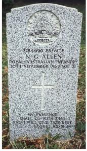 allen headstone