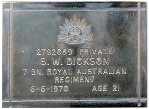 dickson plaque